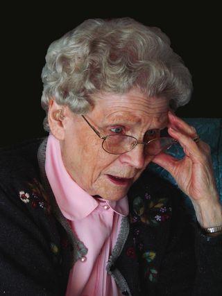 Elderly Woman Confused